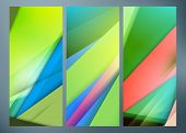 Set Of Abstract Green Wave Backgrounds For Poster, Flyer, Bunner Templates. Vector Illustration. Spr poster