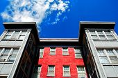Windows and Sky of Apartment Building Rentals Lease Tenant Landlord poster