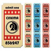 Постер, плакат: билеты в кино вектор