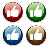 foto of thumbs-up  - vector thumbs up buttons - JPG