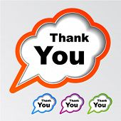 pic of thank you  - vector cloud speech bubbles thank you - JPG