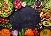 Vegan Dinner Background poster