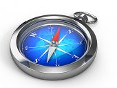 stock photo of orientation  - Compass isolated on white - JPG