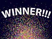 Confetti Background Winning Celebration Glitter Winner 1 poster
