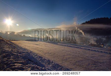 Sunny Morning In Bukovel Ukraine