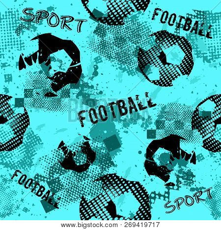 Abstract Seamless Football Pattern For