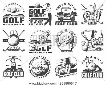 Golf Club Sport Icons And