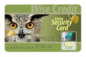 This Is A Secure Credit Card With All The Safety Security Features Available. poster