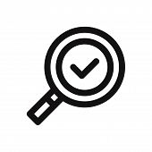 Magnifying Glass Icon Isolated On White Background. Magnifying Glass Icon In Trendy Design Style. Ma poster