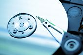 hard disk drive closeup