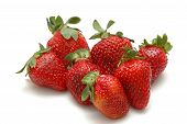 stock photo of strawberry plant  - nice strawberries - JPG