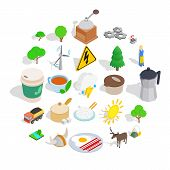 Sweden Culture Icons Set. Isometric Set Of 25 Sweden Culture Vector Icons For Web Isolated On White  poster