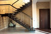 modern staircase and door