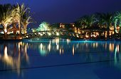 Luxury resort at night
