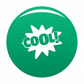 Comic Boom Cool Icon. Simple Illustration Of Comic Boom Cool Vector Icon For Any Design Green poster