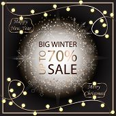 Sale Banner Template Design. Sale Poster Of Christmas. Big Winter Sale Discount. Graphic Poster, Geo poster
