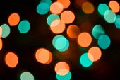 Abstract Light Bokeh Background. Image Blur Defocus Lights At Night. Abstract Night Traffic Bokeh Ba poster