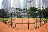 Softball Field Diamond Located In Jakarta, Indonesia poster