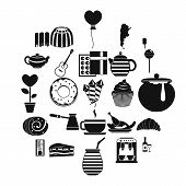 Tasty Tea Icons Set. Simple Set Of 25 Tasty Tea Vector Icons For Web Isolated On White Background poster
