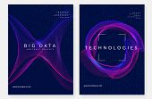 Big Data Background. Technology For Visualization, Artificial Intelligence, Deep Learning And Quantu poster