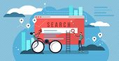 Search Results Vector Illustration. Banner With Engine Answers To Question. Online Business And Tech poster