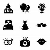 Romantic Atmosphere Icons Set. Simple Set Of 9 Romantic Atmosphere Icons For Web Isolated On White B poster