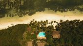 Aerial View Of Tropical Beach With Beach, Resort, Hotels On The Island Bohol, Anda Area, Philippines poster