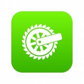Cogwheel Icon. Simple Illustration Of Cogwheel Icon For Web poster