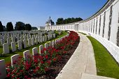 picture of tyne  - Tyne Cot Cemetery in Ypres Belgium - JPG