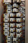 pic of contactor  - Industrial electrical equipment with circuit breakers and contactors - JPG
