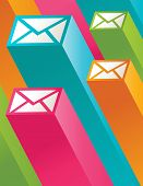 Colorful Mail Illustration