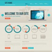 Vintage website template