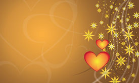 picture of x-max  - Lovable background and little stars and golden color - JPG