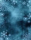 Постер, плакат: Галстук краситель снежинки