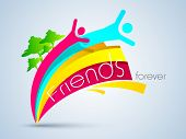 stock photo of  friends forever  - Friendship day background with two friends - JPG