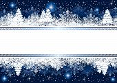 stock photo of snow border  - Abstract winter background - JPG