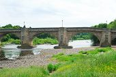 pic of tyne  - historic old bridge and river Tyne Northumberland - JPG