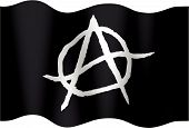 pic of anarchists  - Illustration of an anarchistic flag to the wind - JPG