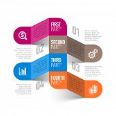 Abstract business process infographics template. Vector.
