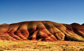 stock photo of sedimentation  - A View of the Painted Hills afternoon - JPG