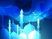 picture of namaz  - vector eid festival islamic background - JPG