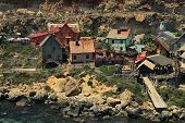 picture of popeye  - beautiful view of the village of Popeye - JPG