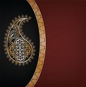 pic of rangoli  - Indian background with sari pattern - JPG