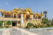 stock photo of muni  - Maha Muni religious complex in  Myanmars Mandalay  - JPG