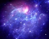 image of nebula  - Purple space nebula - JPG