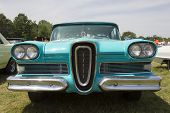 1958 Blue Edsel Citation Front View
