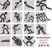 stock photo of toboggan  - The Winter sport icons  - JPG