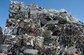 foto of ferrous metal  - Pile of scrap metal in a scrapyard - JPG