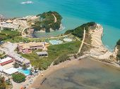 foto of sidari  - Aerial view on Sidari in Corfu Kerkyra Greece - JPG