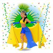 stock photo of brazilian carnival  - Brazilian Carnival Dancer - JPG